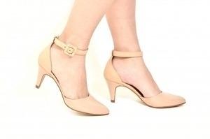 Sapato Aberto Verniz Nude Premium
