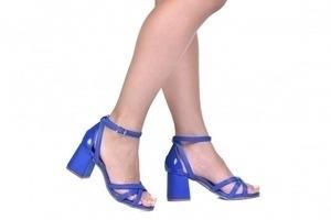 Sandália 3 Tiras Azul