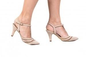 Sapato Tela Bege