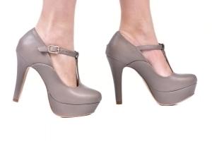 Sapato MP Alta Tira Central Cimento