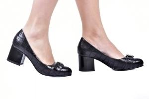Sapato Baixo Fivela Preto