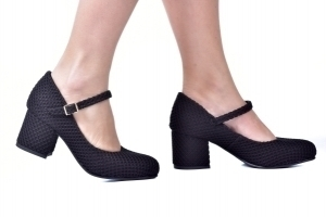 Sapato Boneca Baixo Tricot